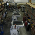 The assembly line for Railgen Rail Propulsion Generators in 2007.